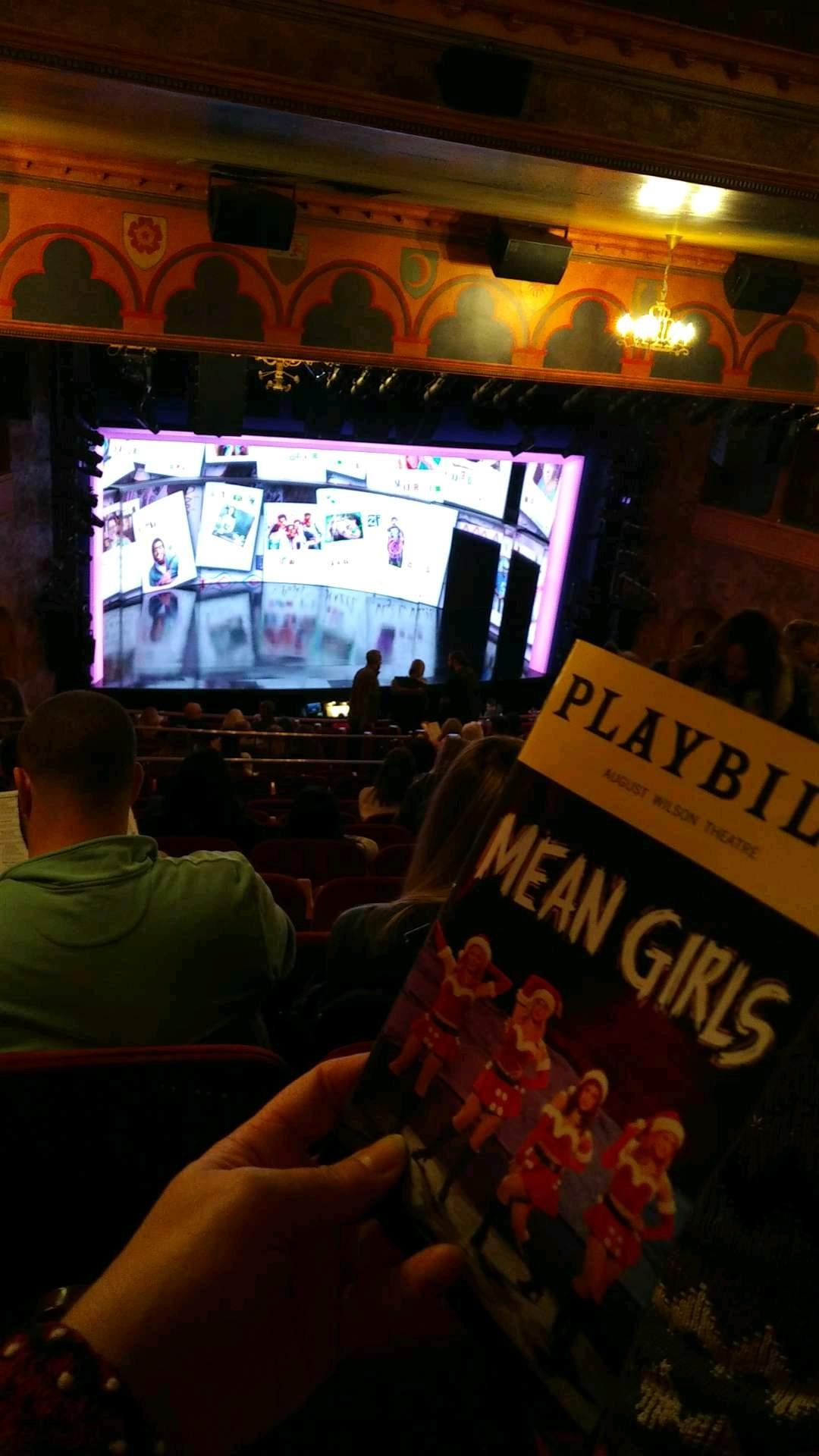August Wilson Theatre Sección mezzanine l Fila Q Asiento 15