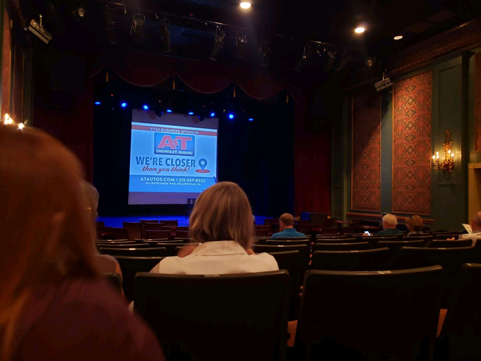 Sellersville Theater Sección First half Fila H Asiento 14