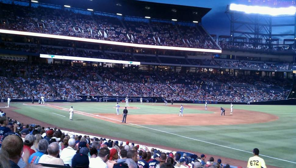 Turner Field,  Sección <strong>105L</strong>, Fila <strong>5</strong>, Asiento <strong>109</strong>
