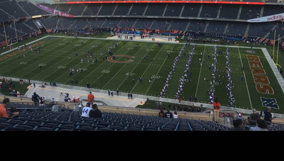 Soldier Field,  Sección <strong>General A</strong>, Fila <strong>20</strong>, Asiento <strong>1000</strong>