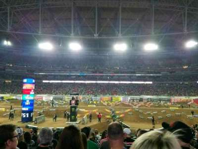 University of Phoenix Stadium, sección: 108, fila: 16, asiento: 10