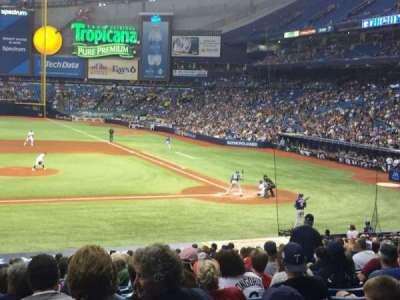 Tropicana Field, sección: 113, fila: GG, asiento: 1