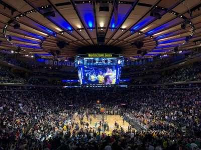 Madison Square Garden, sección: 112, fila: 19, asiento: 10