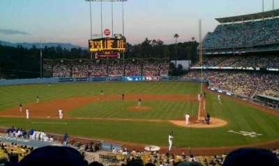 Dodger Stadium, sección: 119LG, fila: J, asiento: 1