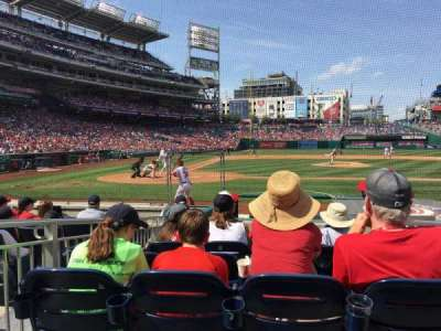Nationals Park, sección: 127, fila: K, asiento: 1 thru 4