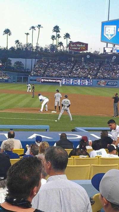 Dodger Stadium, sección: 20FD, fila: G, asiento: 5