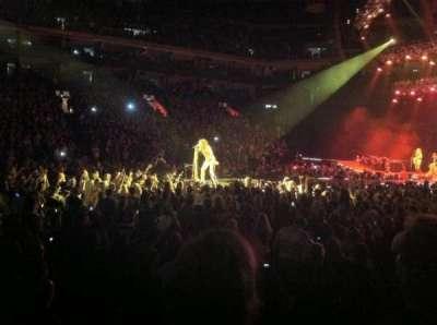 Oracle Arena, sección: 101, fila: 2, asiento: 8