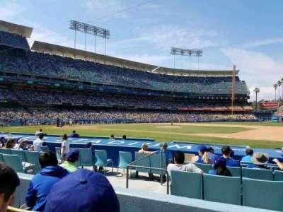 Dodger Stadium, sección: 24FD, fila: C, asiento: 4
