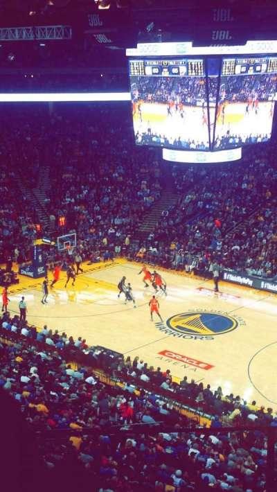 Oracle Arena, sección: 213, fila: 4, asiento: 6
