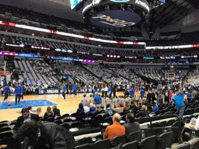 American Airlines Center, sección: 108, fila: F, asiento: 8