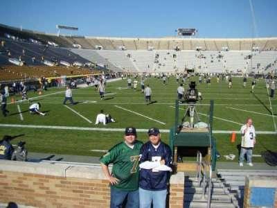 Notre Dame Stadium, sección: 19, fila: 5, asiento: 1