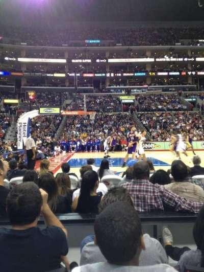 Staples Center, sección: 112, fila: 3, asiento: 13