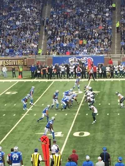 Ford Field, sección: 105, fila: 18, asiento: 3
