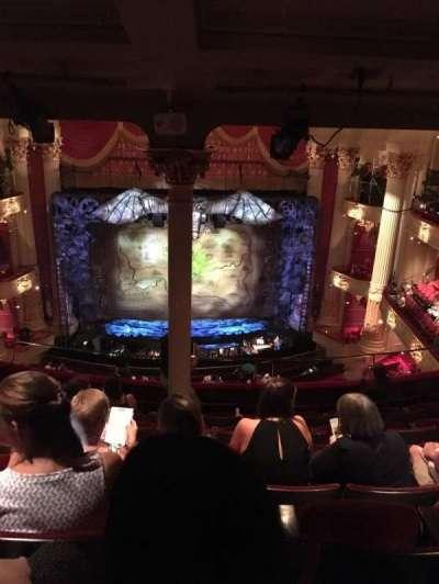Academy of Music, sección: Family Circle E, fila: H, asiento: 113