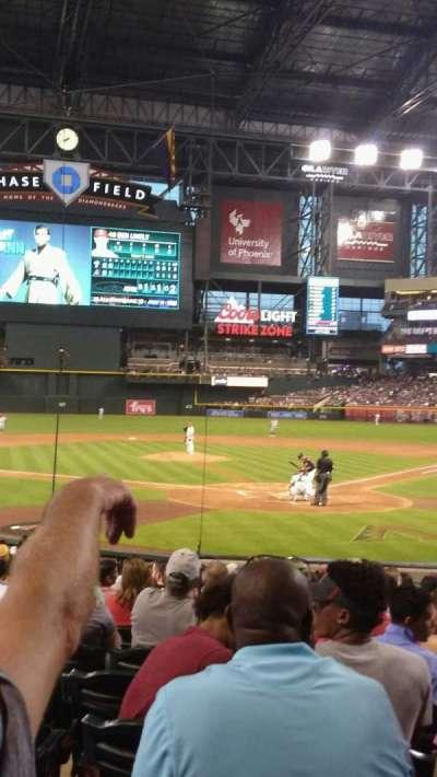 Chase Field, sección: K, fila: M, asiento: 9