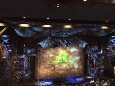 Gershwin Theatre, sección: Right Mezzanine , fila: G, asiento: 5