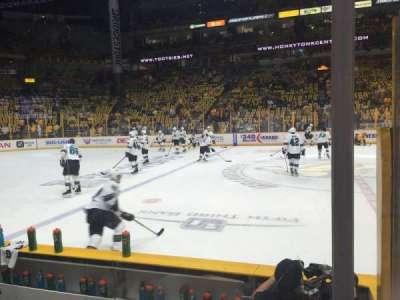 Bridgestone Arena, sección: 115, fila: DD, asiento: 2