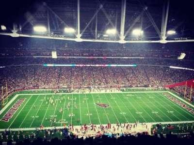 University of Phoenix Stadium, sección: 414, fila: 21, asiento: 12