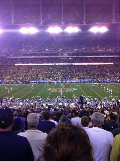 University Of Phoenix Stadium, sección: 129, fila: 35, asiento: 17