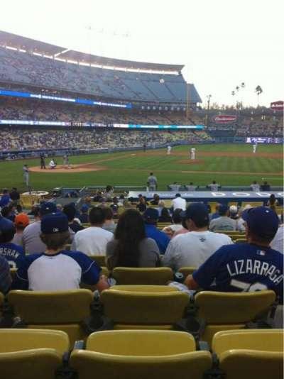 Dodger Stadium, sección: 16FD, fila: P, asiento: 7