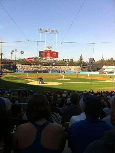 Dodger Stadium, sección: 6FD, fila: M, asiento: 2
