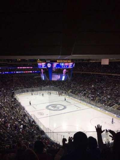 Madison Square Garden, sección: 414, fila: 4, asiento: 14