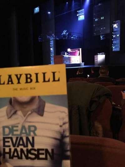 Music Box Theatre, sección: Right O, fila: H, asiento: 24