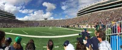 Notre Dame Stadium, sección: F17, fila: C, asiento: 10