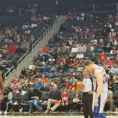 Philips Arena, sección: 116, fila: AAA, asiento: 5