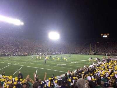 Notre Dame Stadium, sección: 15, fila: 13, asiento: 9*
