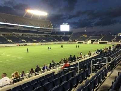 Camping World Stadium, sección: 113, fila: K, asiento: 12