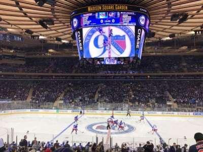 Madison Square Garden, sección: 107, fila: 18, asiento: 10
