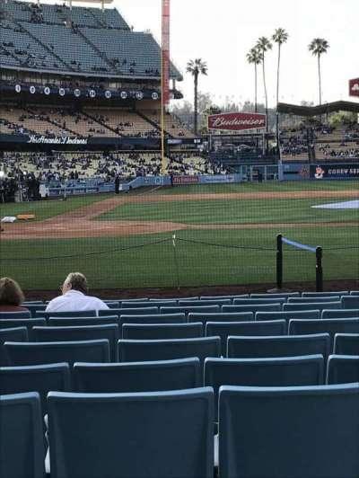 Dodger Stadium, sección: 12FD, fila: B, asiento: 1