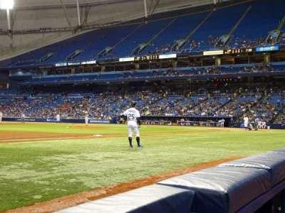 Tropicana Field, sección: 123, fila: B, asiento: 10