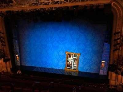 Walter Kerr Theatre, sección: Mezzanine Right, fila: F, asiento: 4