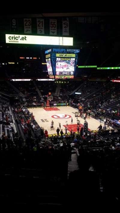 Philips Arena, sección: 221, fila: G, asiento: 3-4