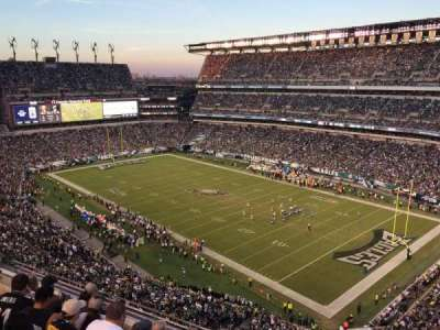 Lincoln Financial Field, sección: 207, fila: 5, asiento: 10