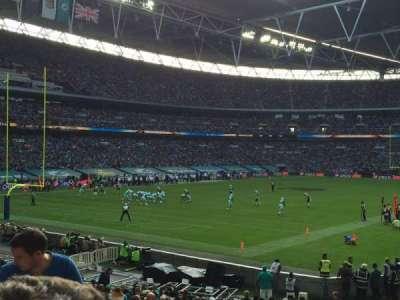 Wembley Stadium, sección: 108, fila: 25, asiento: 158