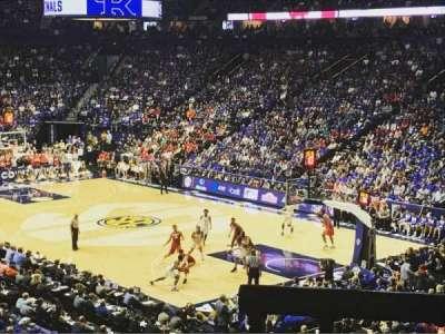 Bridgestone Arena, sección: 107, fila: M, asiento: 6