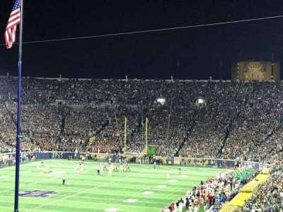 Notre Dame Stadium, sección: 116, fila: AD, asiento: 7