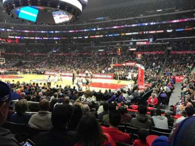 Staples Center, sección: 109, fila: 10, asiento: 3
