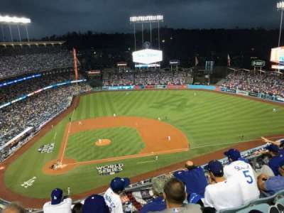 Dodger Stadium, sección: 12TD, fila: E, asiento: 5