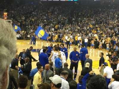 Oracle Arena, sección: 124, fila: 4, asiento: 14