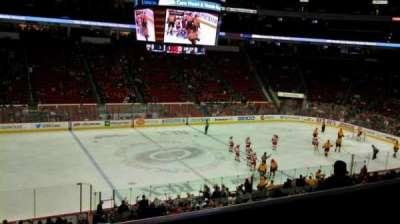 PNC Arena, sección: 106, fila: YY