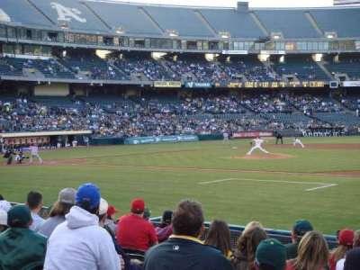 Oakland Alameda Coliseum, sección: 110, fila: 11, asiento: 13