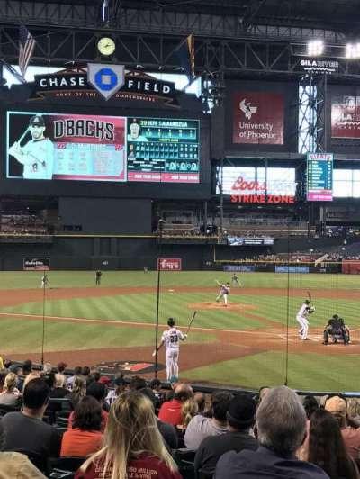 Chase Field, sección: K, fila: M, asiento: 12