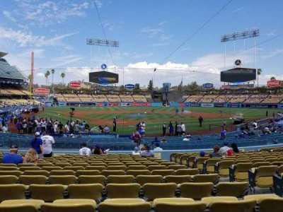 Dodger Stadium, sección: 4fd, fila: P, asiento: 9