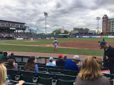 Northeast Delta Dental Stadium, sección: 114, fila: G, asiento: 9