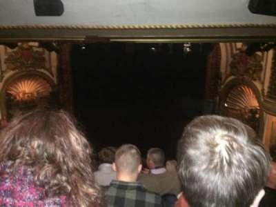 Palace Theatre (Broadway), sección: Rear Center Mez, fila: M, asiento: 124