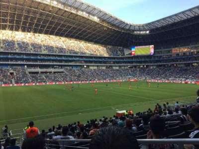 Estadio BBVA Bancomer, sección: 101, fila: P, asiento: 1